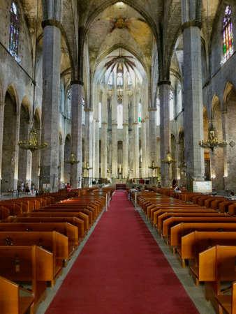 Barcelona, Cathedral Saint Eulalia, Catalonia, Spain. Gothic religious church