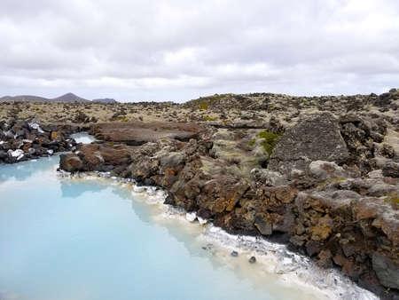 ヨーロッパ アイスランドのブルーラグーン。全国のランドマーク。近いレイキャビク 写真素材