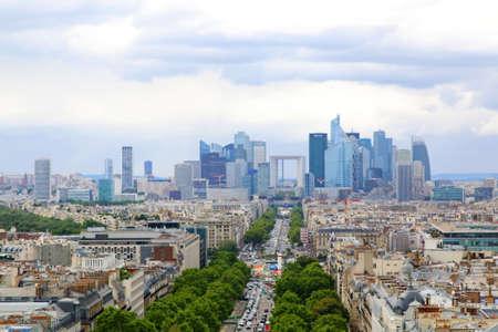 Paris, France 2017: Financial district and The Avenue de la Grande Arme. Paris, France. Summer time