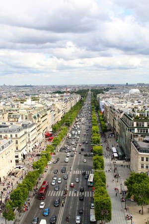 champs elysees: Paris, July 2017: Avenue de Champs-lyses. Paris, France. Summer time