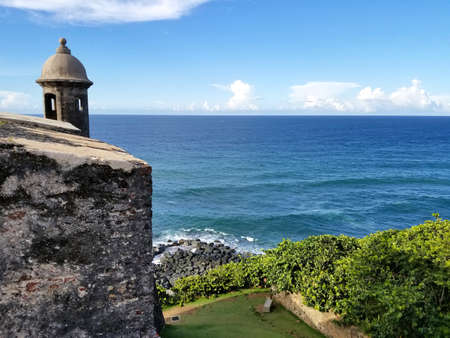 San Juan, Puerto Rico historic Fort San Felipe Del Morro.  Puerto Rico Stock Photo