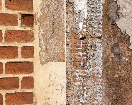Grunge brick wall template. with copy space