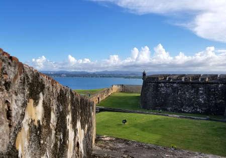 San Juan, Puerto Rico historic Fort San Felipe Del Morro.  Puerto Rico Stock Photo