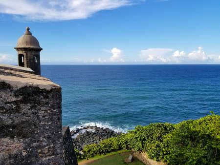 Historical site called Castillo San Felipe del Morro in Puerto Rico. Summer time