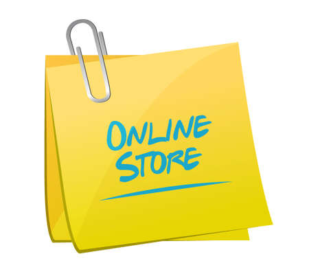 Online store post sign concept