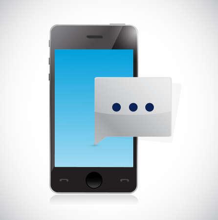 Phone communication message illustration design graphic isolated over white Illusztráció