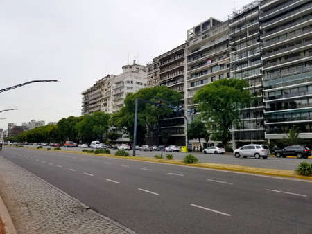 livertador avenue in Buenos Aires, Argentina. Highway. During summer