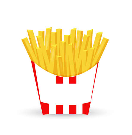 french fries illustration design isolated over a white background Stock Illustration - 93798467