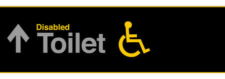 Wheelchair airport sign concept. Isolated illustration design over white