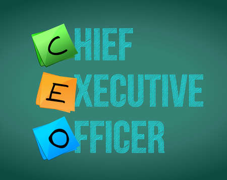 Chief executive officer sign on blackboard. Illustration design graphic.