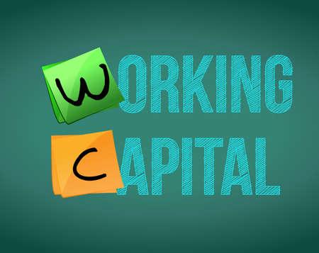 Working capital on blackboard. Illustration design graphic. Illustration