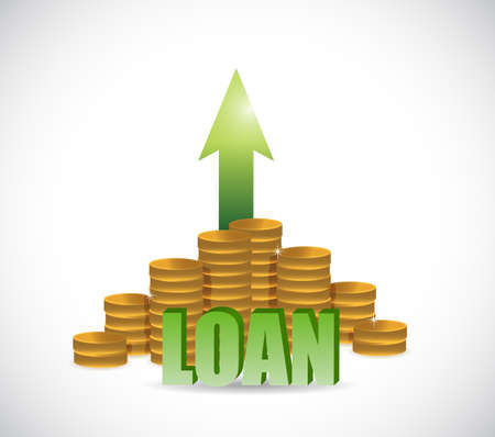 loan increase concept. illustration design graphic isolated over white