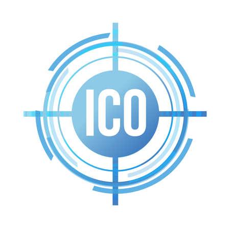 Ico target sign concept illustration design graphic over white Ilustracja