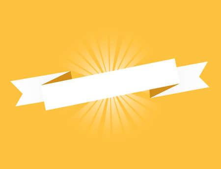 Orange ribbon. Illustration Design graphic. Vintage ribbon. banner illustration design. Vettoriali