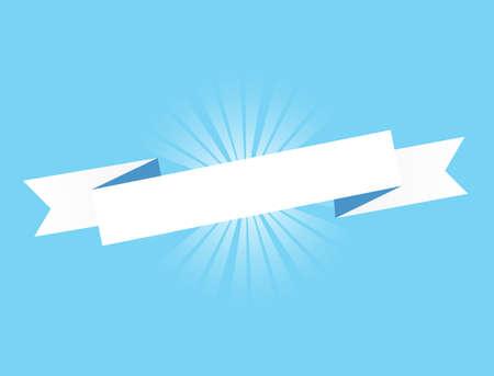 Blue ribbon. Illustration Design graphic. Vintage ribbon. banner illustration design Vectores