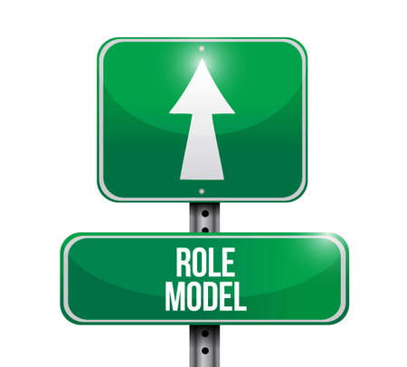 role model street sign illustration design graphic over white Vectores