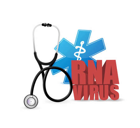 rna virus medical stethoscope sign. illustration design graphic isolated over white