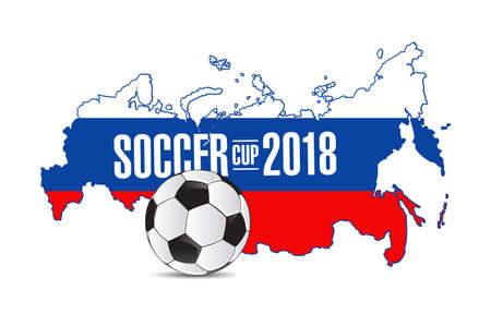Russia soccer cup 2018 illustration.