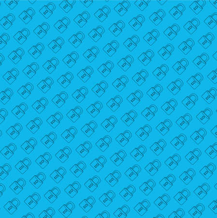 lock secure pattern line illustration graphic. blue background