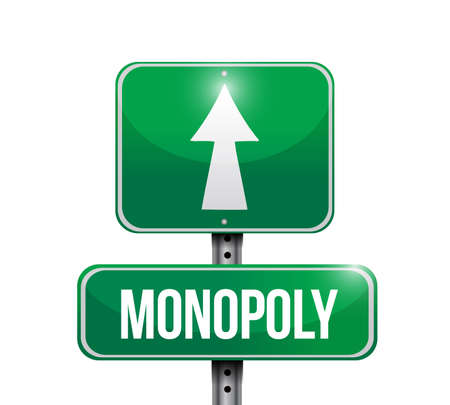 Monopoly street sign concept.