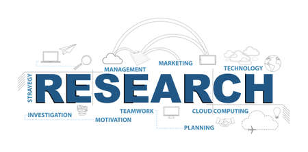 research diagram. Vector Illustration. isolated over a white background