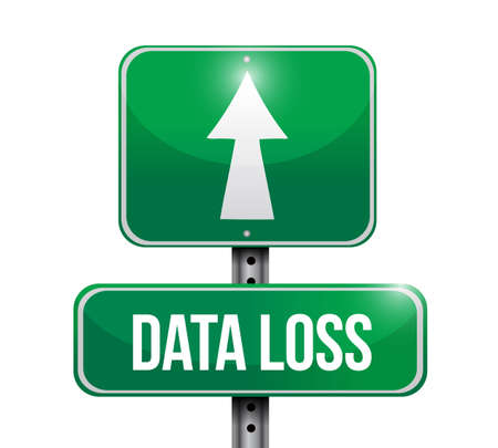 data loss street sign Illustration. Vector Illustration. isolated over a white background Foto de archivo - 102518074