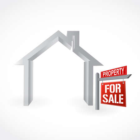 Home for Sale sign. Vector Illustration. isolated over a white background