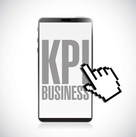 Key performance indicators smartphone message. vector illustration. isolated over a white background Illustration