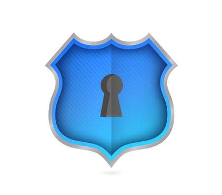 shield key hole security. Vector Illustration. isolated over white