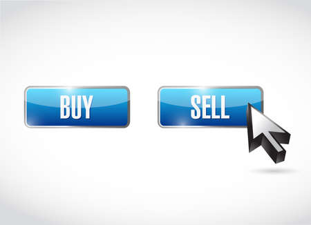 sell over buy click button. vector illustration. isolated over a white background