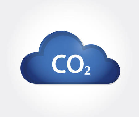 CO 2 cloud icon. vector illustration. isolated over a white background