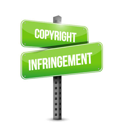 copyright infringement sign illustration. isolated over a white background