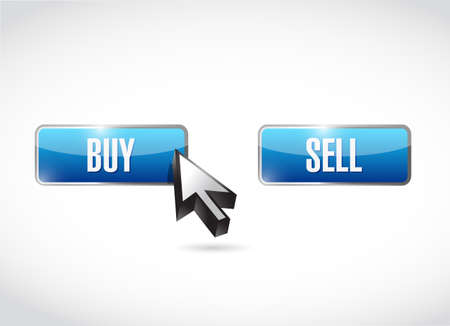 buy over sell click button. vector illustration. isolated over a white background
