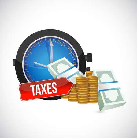 taxes concept. bussiness concept illustration. over a white background Foto de archivo - 115003231