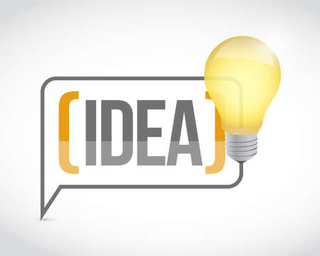 bright ideas light bulb concept. bussiness concept illustration. over a white background