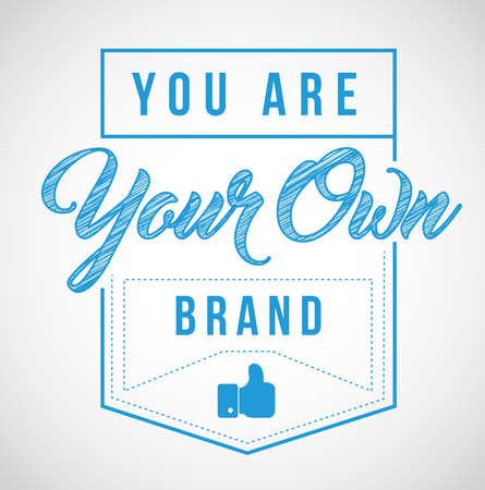 당신은 흰색 배경 위에 절연 자신의 브랜드 스탬프 인감 그림입니다