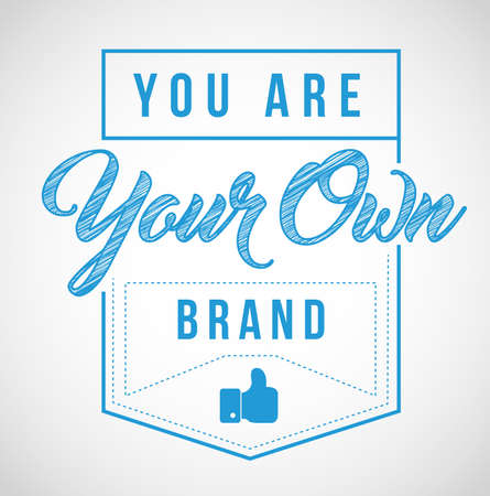 you are your own brand stamp seal illustration isolated over a white background