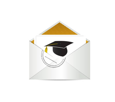 Graduation letter. Education illustration isolated over a white background