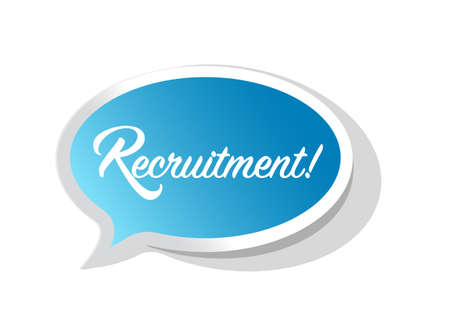 recruitment speech bubble communication concept illustration isolated over a white background