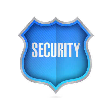 security shield Illustration isolated over a white background