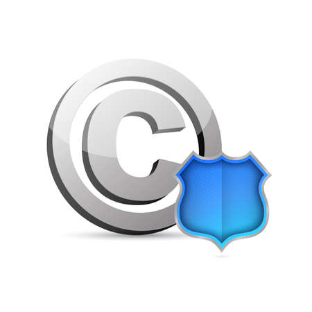 Copyright protection illustration isolated over a white background