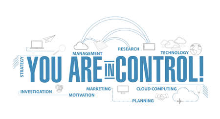 You are in control diagram plan concept isolated over a white background Vectores