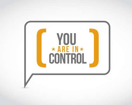 Vous êtes dans la bulle de message de contrôle isolé sur fond blanc