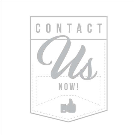 Contact us now Modern stamp message design isolated over a white background Illustration
