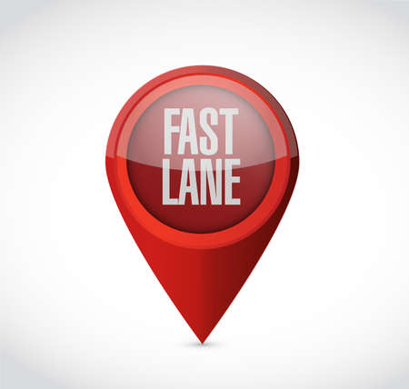 Fast lane Pointer message concept illustration isolated over a white background Archivio Fotografico - 107350216