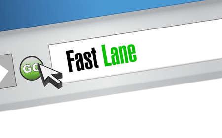 Fast lane Web browser message concept illustration design background  イラスト・ベクター素材