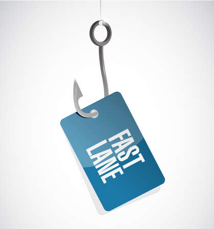 Fast lane Hook concept illustration isolated over a white background