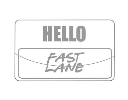 Fast lane name tag sign concept illustration isolated over a white background  イラスト・ベクター素材