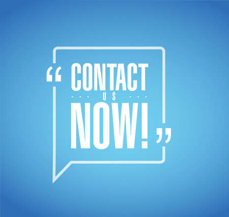 contact us now line quote message concept isolated over a blue background