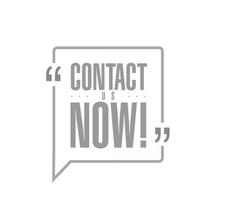 contact us now line quote message concept isolated over a white background Illustration
